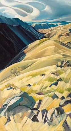 "Portal - Hell's Canyon 88""x48"" oil and wax on linen"