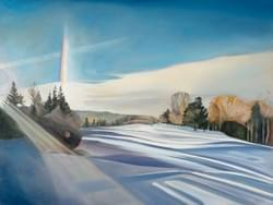 "Snowbow  36""x48"" Oil and wax on linen"