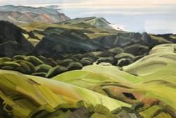 "Southward from Mount Tamalpais 20""x30"" oil and wax on linen"