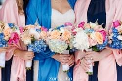 Galley Wedding, Nantucket Island.  Flowers by Jean Cawley, photography by Zofia & Co. Photography.