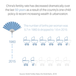 China's decreasing fertility rate