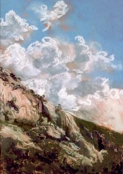 Clouds and Granite, Near Alta - sold