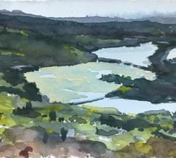 River and Marshes from Mountain in Spring, 2018