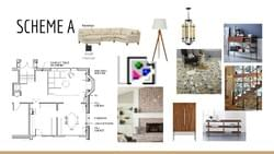 MFCDC can help you with Interior Design Boards...presented beautifully with plans and images to tell the whole story