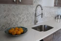Tilework in kitchen