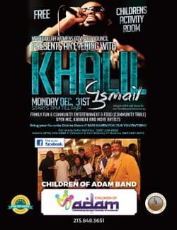 The Children of Adam Band performs at An Evening with Khalil New Years Eve 2018 - FREE - Register Today