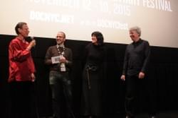 Yvonne, Basil Tsiokos, Christine and Jack at DocNYC