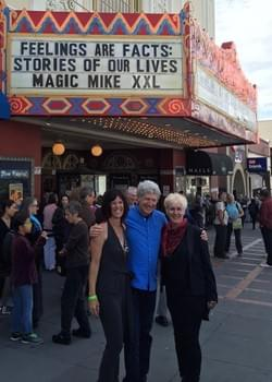Christine, Jack and Frameline Executive Director Frances Wallace