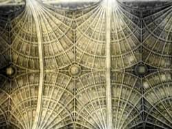 Fan-vault ceiling, One of the largest fan-vault ceiling of the World, Cambridge