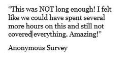 testimonial from our end of event survey
