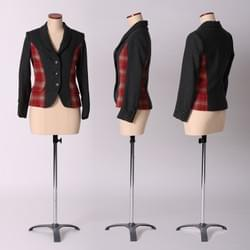 """Princess"" jacket / red tartan"