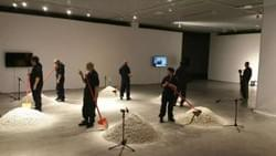 "Work Title ""Digging""  Group work at Chang Jiang Contemporary Art Museum"