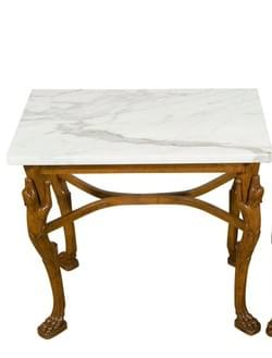Wood Table and  in the Pompeian Style