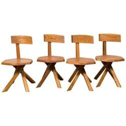 Set of 4 Pierre Chapo Chairs