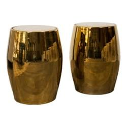 Pair of Barrel Shape Stools / End Tables