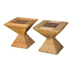 Pair of Wicker Side Tables