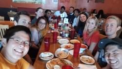 Lunch after Rishabh's defense!