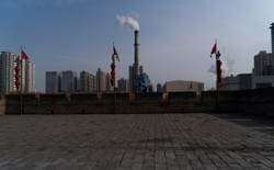 Smoke Stacks from Xi'an wall.