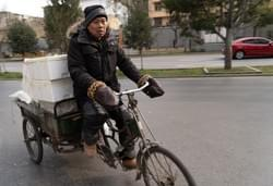 Delivery rider Xi'an, China.