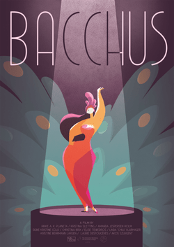Poster for my bachelor film, Bacchus