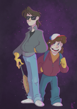Steve and Dustin from Stranger Things.