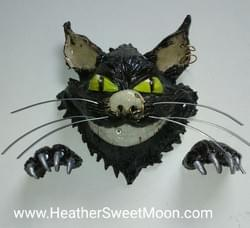 Cheshire cat head, wall decor/hanging