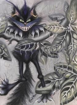 Cheshire cat   Original painting.  Giclee prints from £23.00