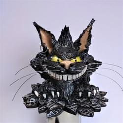 Cheshire cat sculpture