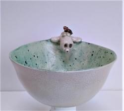 Sheep and bird bowl
