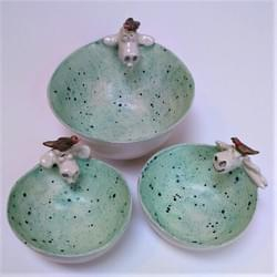 Sheep and bird bowls