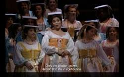 Yvonne in the Met's production of L'elisir d'amore.