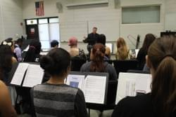 Michael conducting.