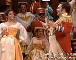 Yvonne in L'elisir d'amore at the Met.