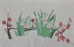 Daffodils and Cherry Bossoms