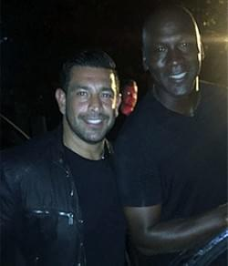 Richie Hosein and Michael Jordan