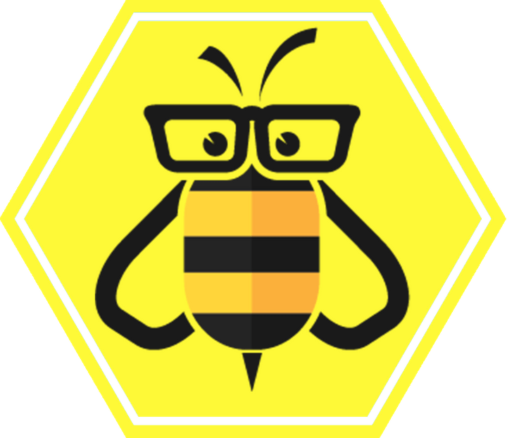 Bee Student Hexagon Logo