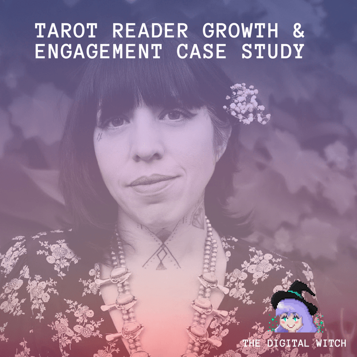 social media case study for tarot reader