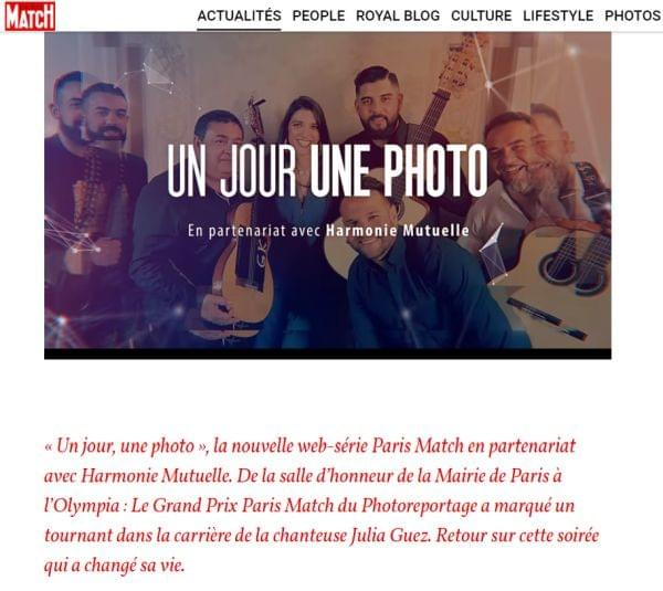 "Paris Match, ""Un Jour, une photo"""