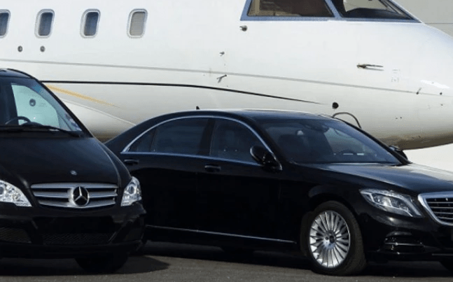 Santorini luxury chauffeur driven car hire.
