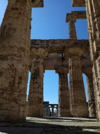 The tempels of Paestum are very impressive