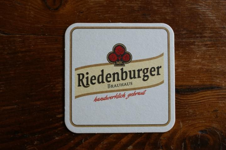 Riedenburger  beer coaster