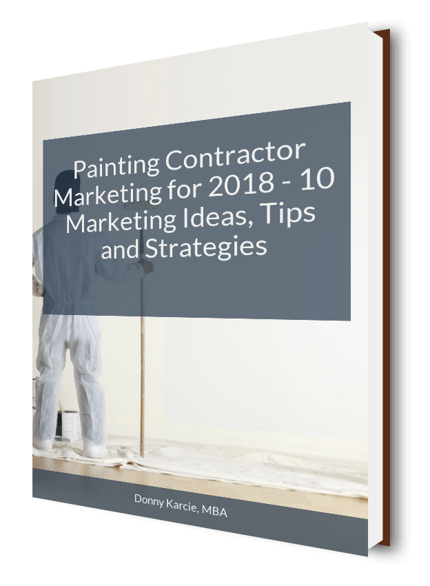 Painting Contractor Marketing Tips eBook cover for 2018