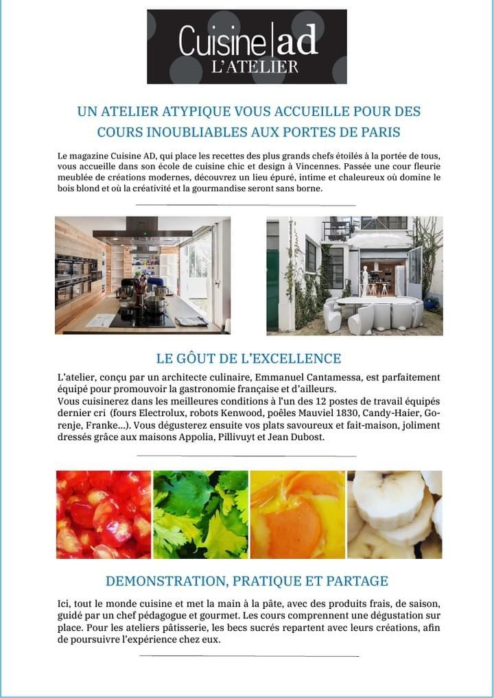 Cours De Cuisine Paris