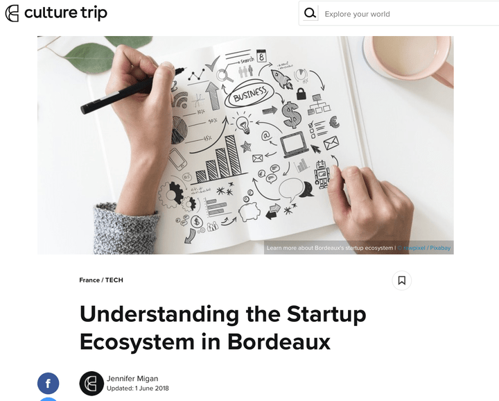 François Luc Moraud interview by Jennifer Migan in Understanding the Startup ecosystem in Bordeaux - Culture Trip