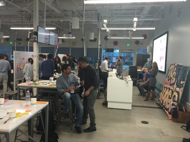 Photo prise au Google garage de Mountain View nov 2015