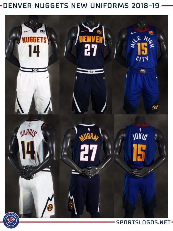 88175175af53 2018-2019 Denver Nuggets Official Jerseys