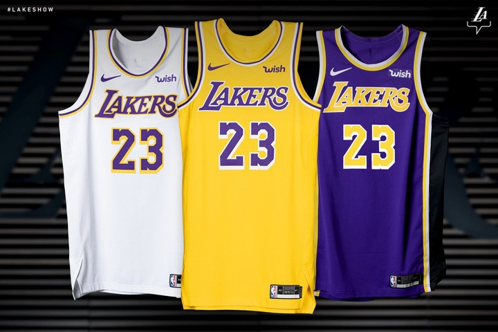 2d126c4596a 2018-2019 Los Angeles Lakers Official Jerseys