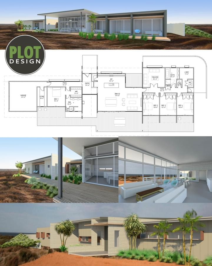 Plot Design : Building Design & Drafting Services : Exmouth New Residence
