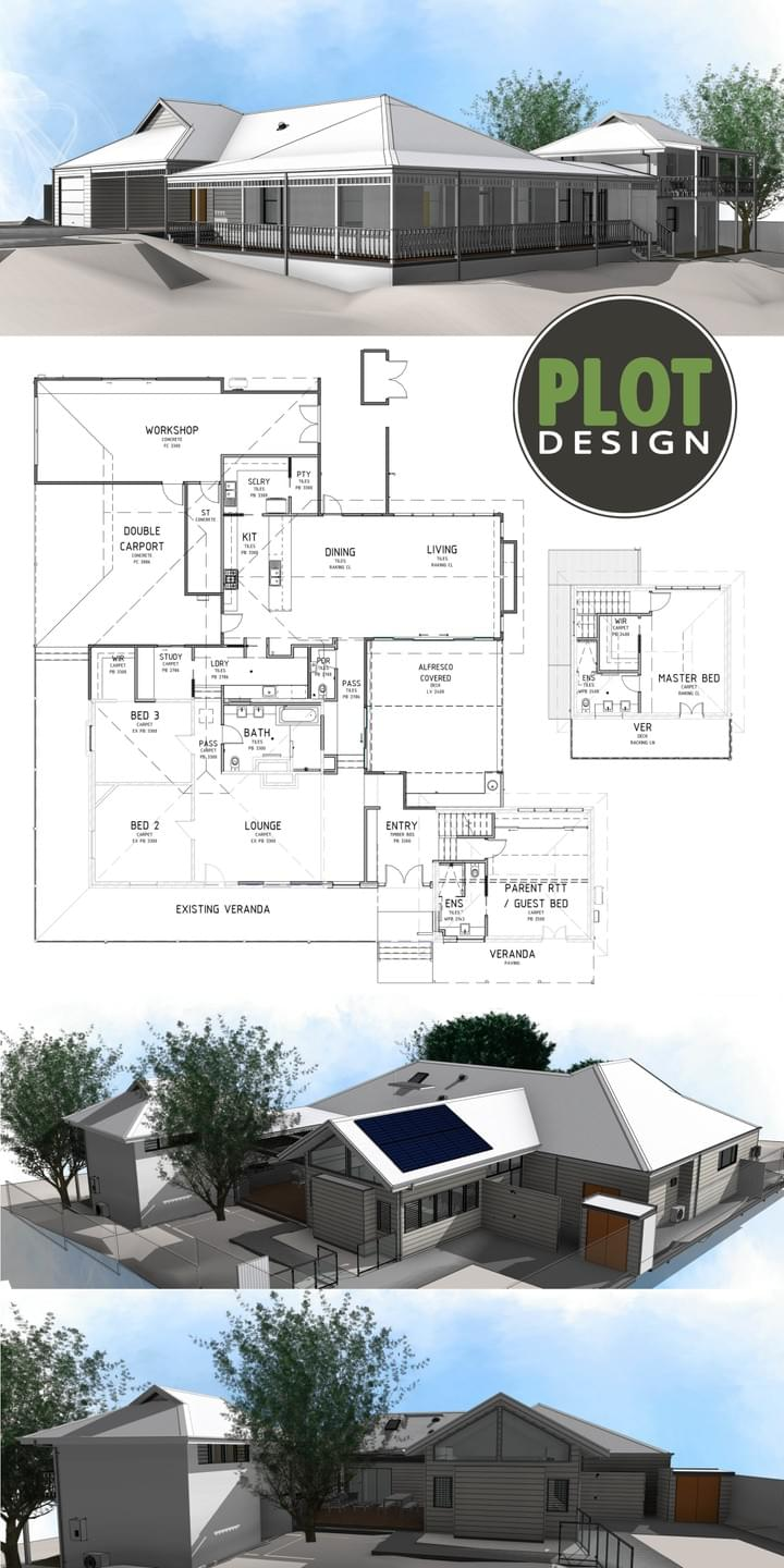 Plot Design : Building Design & Drafting Services : Gooseberry Hill New Extension