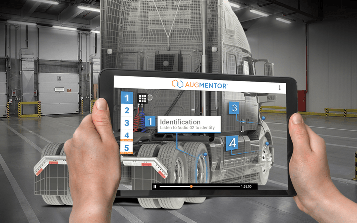 Augmented reality mobile image utilized by automotive technican